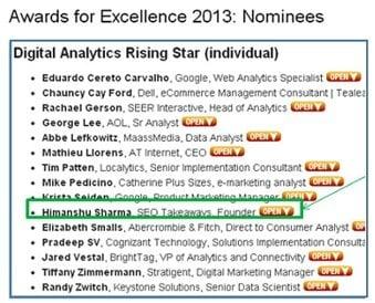 awards for