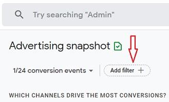 Add filter Advertising Snapshot report