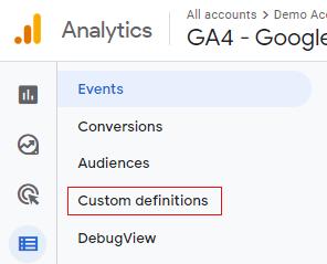Custom defination link