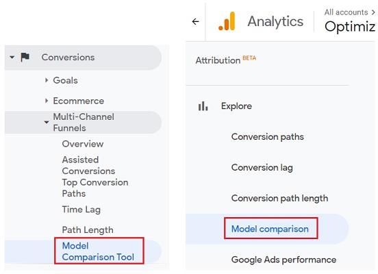 Model Comparison Tool vs Model Comparison report