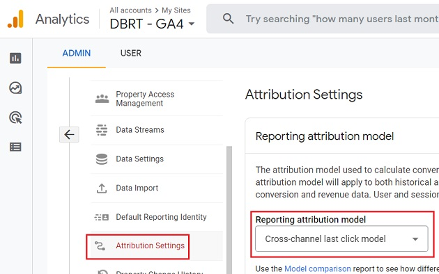 Reporting attribution model