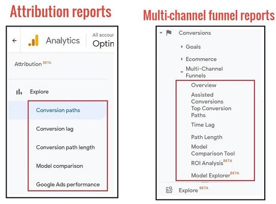 Google Attribution vs Google Analytics Multi-Channel Funnel Reports