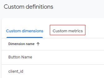 custom metrics 1
