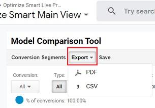 export model comparison tool