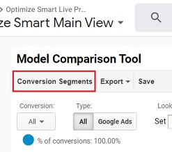 model comparison tool conversion segments