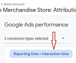 reporting time interaction time button