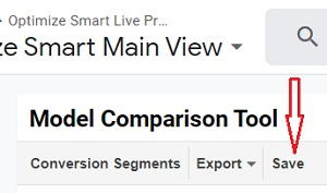 save model comparison tool report