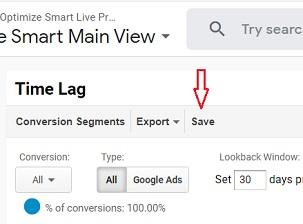 time lag report saved