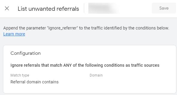unwaanted referral ovrlay
