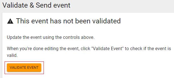 validate event