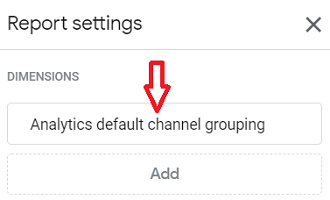 Analytics default channel grouping