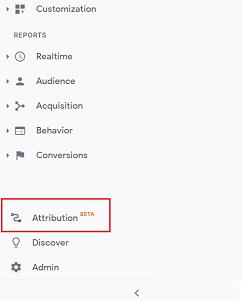 Google Analytics Attribution Beta