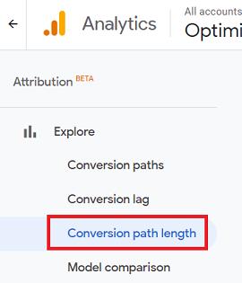 Conversions Path Length report attribution beta