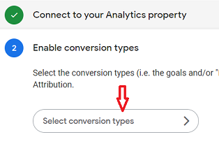 Select conversion types