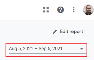 Select your date range from the date picker