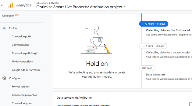 access your new attribution project