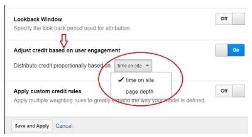 adjust Credit based on user engagement