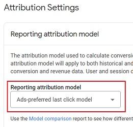 ads preferred last click model ga4 2