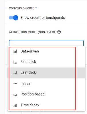 attribution models list