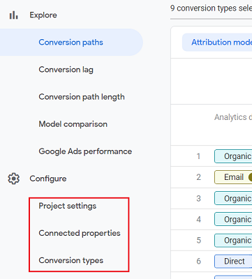 configuring your attribution project
