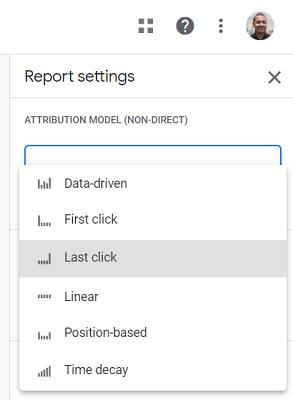 list of attribution models