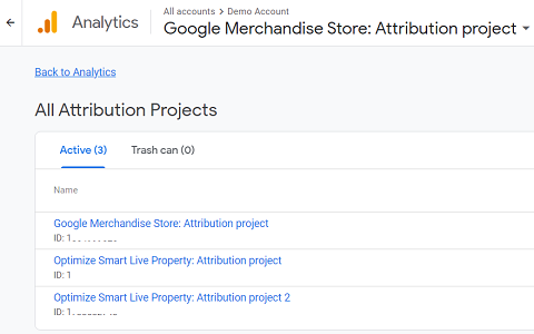 list of attribution projects