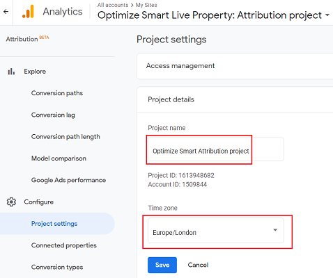 rename your attribution project