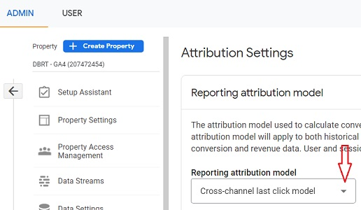 reporting attribution model ga4