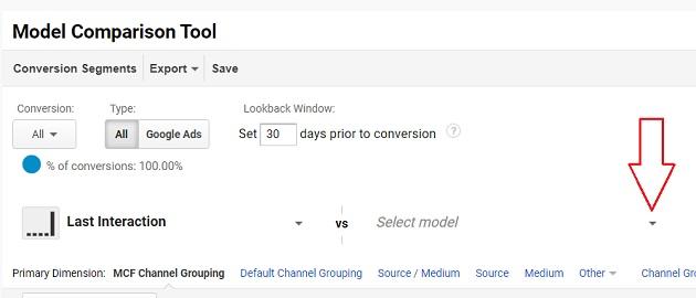 select model drop down menu