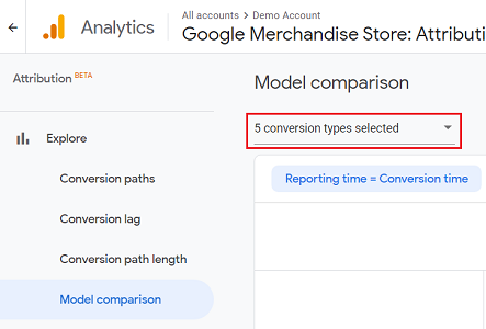select the conversion type from the drop down menu 1