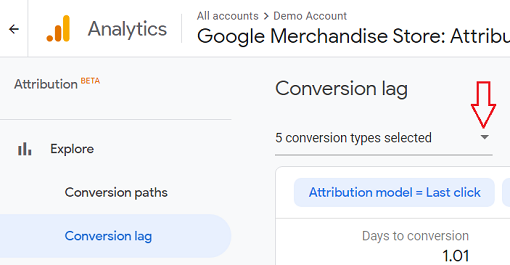 select the conversion type from the drop down menu and deselect all other conversions