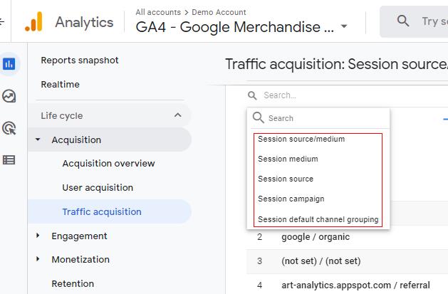 session acquisition